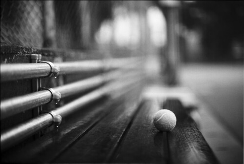 tennis ball in rain | by breeze.kaze