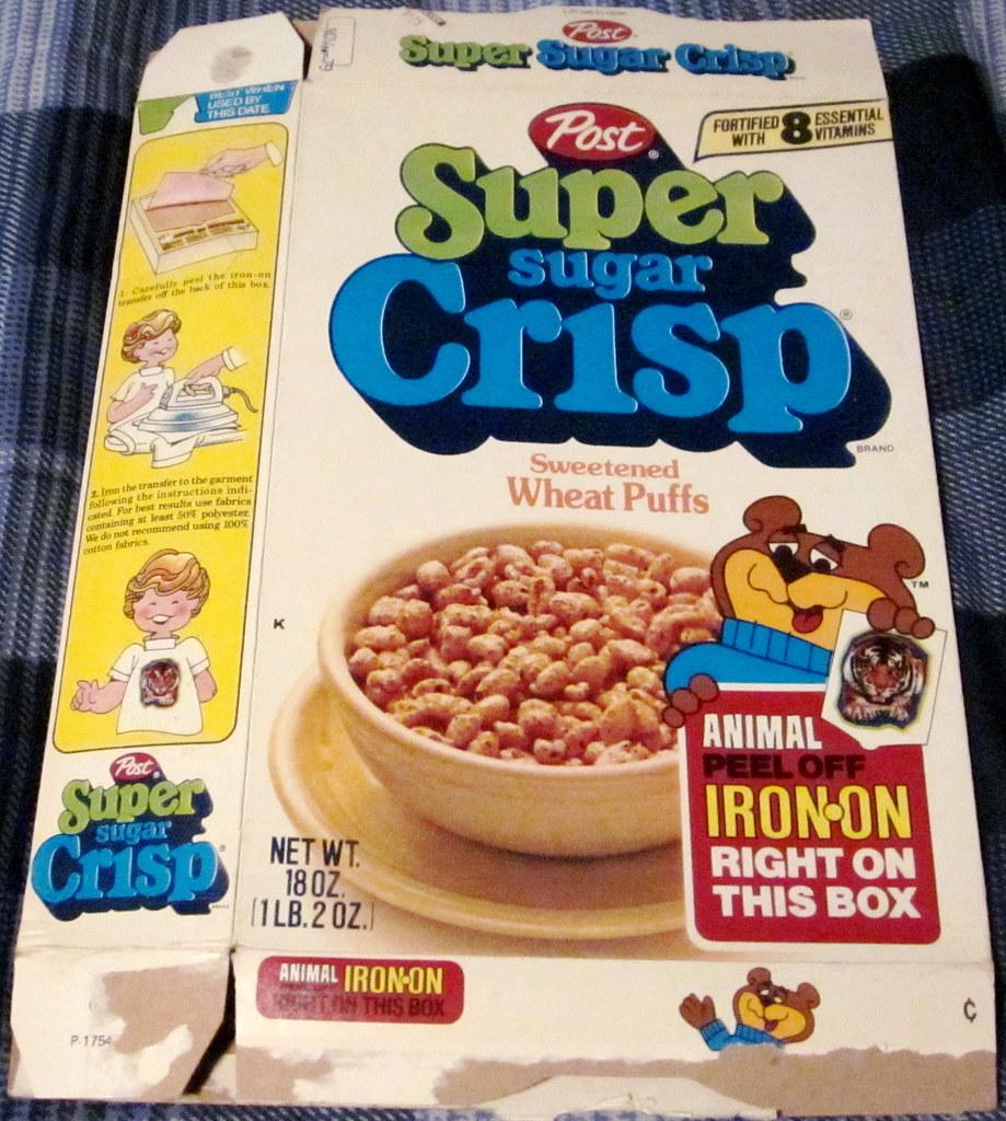 Post 1978 Super Sugar Crisp Cereal Box