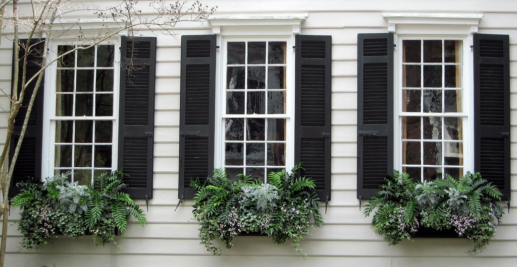 Window Boxes And Black Shutters Charleston Sc Spencer