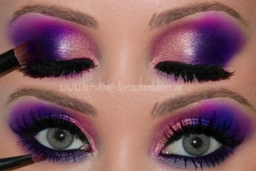 purple and pink eyeshadow jordan23queen flickr