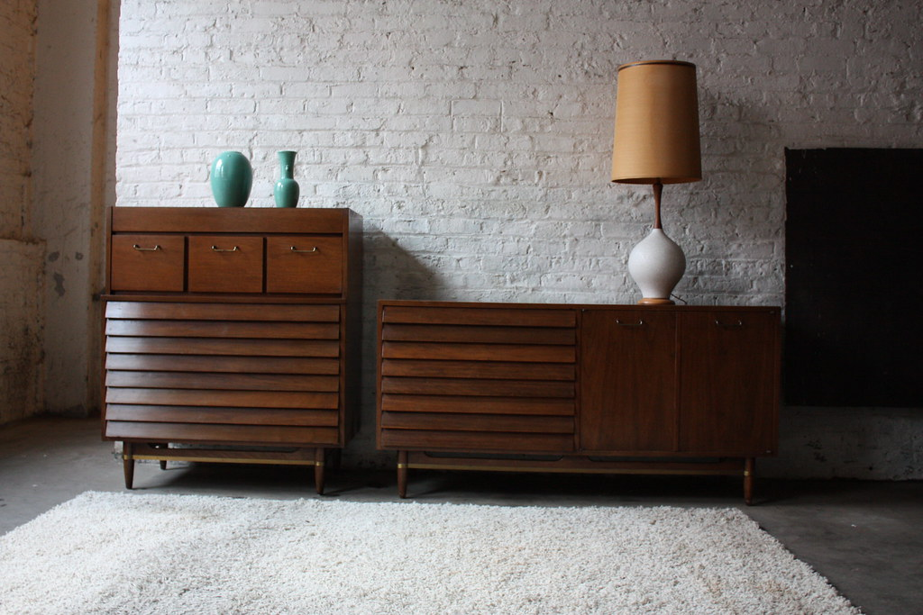 Extraordinary american of martinsville mid century modern for American martinsville bedroom furniture