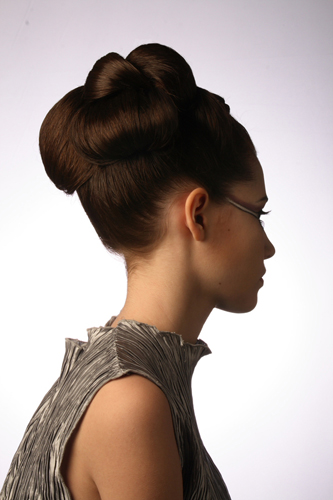 sleek-updo-classic-hairstyle | by vanmobilehair