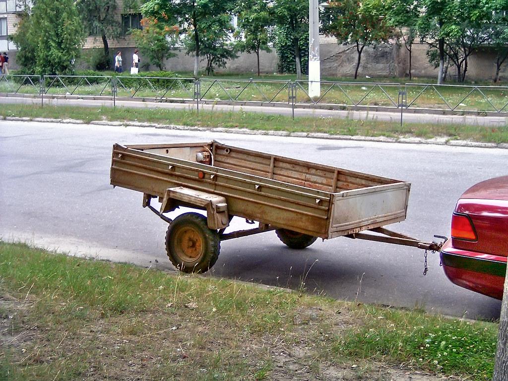 very small utility trailer hooked up to avtomachina flickr
