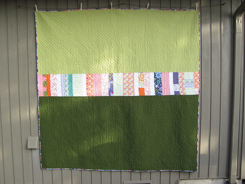 Completed Swoon Quilt back | by aquilterstable