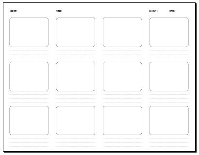 12 Frame Storyboard 11 X 8.5 In. | Storyboard Template: Pdf … | Flickr