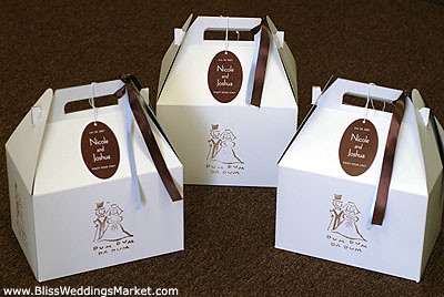 Gable boxes as perfect out of town wedding guest gift bags for Wedding welcome gifts for out of town guests