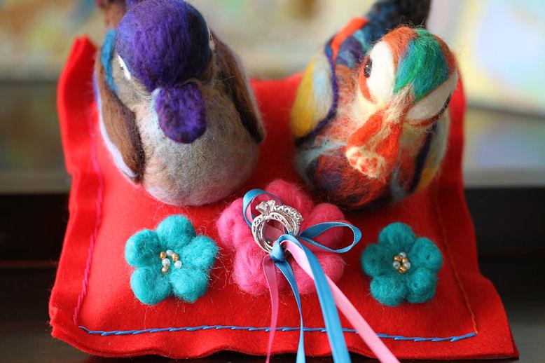 Korean traditional wedding Mandarin Duck ring pillow Flickr