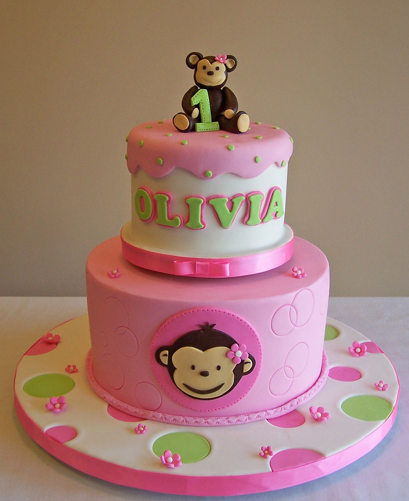 Mod monkey cake i made these cakes for two siblings who for Monkey birthday cake template
