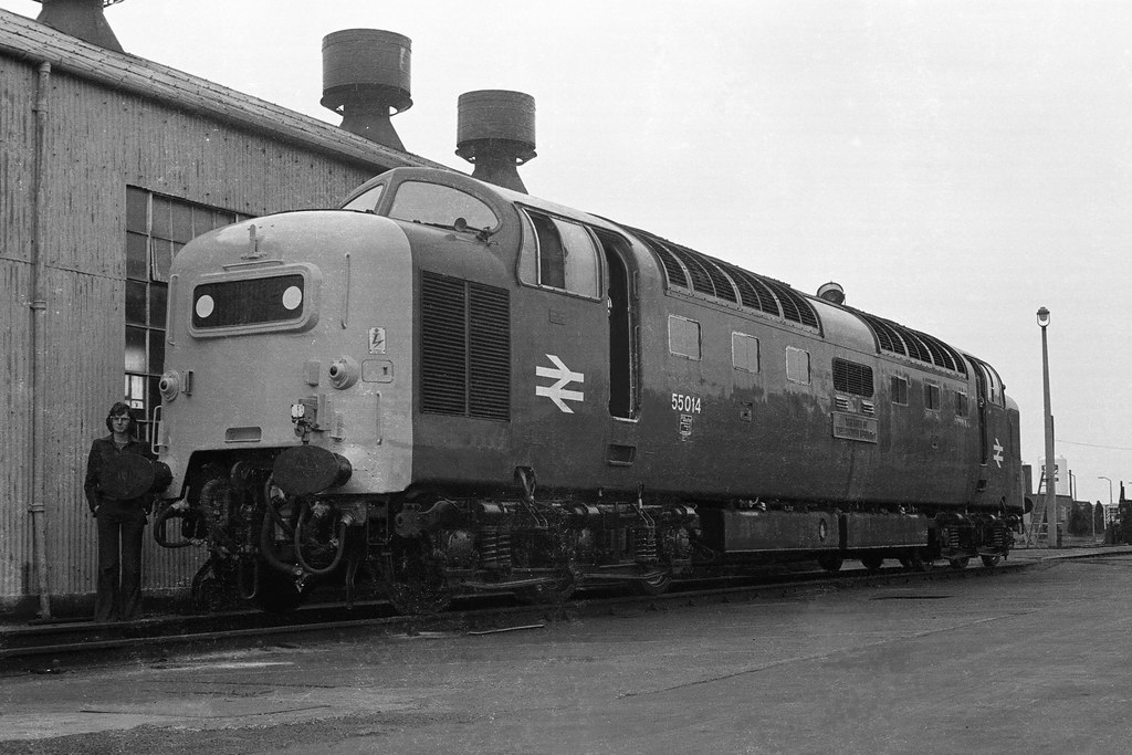 ... 1976 55014 'The Duke of Wellington's Regiment' on Doncaster Works -  23rd May, 1976