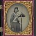[Unidentified soldier in Confederate Virginia volunteer uniform with bayoneted musket] (LOC)