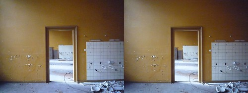 Abandoned psychiatric hospital, stereo photo (crossview) | by Stereomania