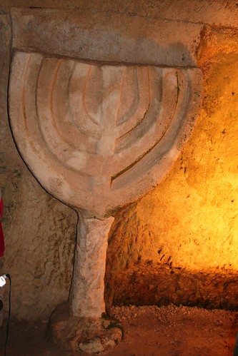 Menora In Beit Shearim | by Mike Tour Guide
