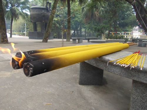 Giant incense sticks at Ngong Ping Monastery, Hong Kong | by Darcy Moore