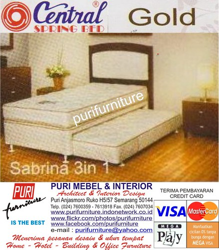 PURI CENTRAL SPRING BED GOLD SABRINA 3 IN 1