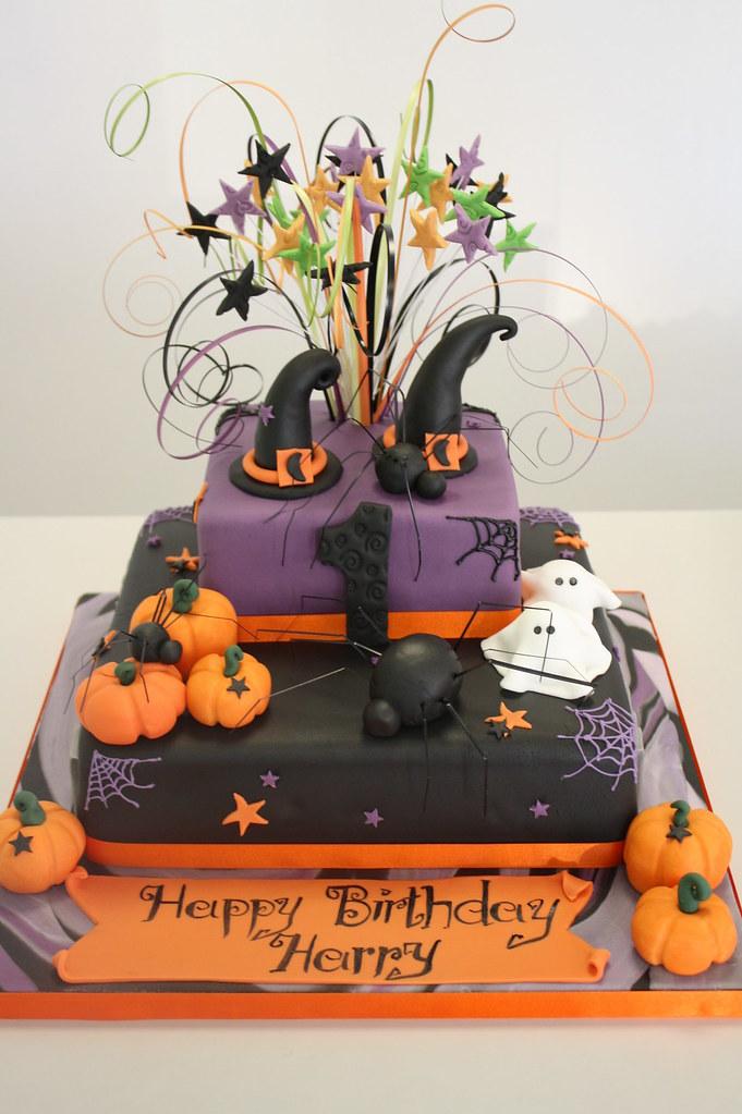 Cake Halloween 1st Birthday Jules Enquiriescakechester