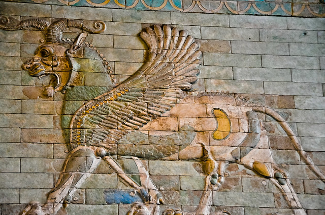 Winged Lion Babylon Gate Relief At The Louvre Museum Paris