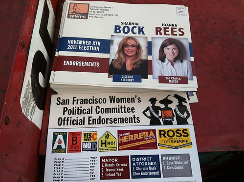 #sfmayor @sfwpc lit photo @JoannaRees even though @DennisHerrera top choice | by Steve Rhodes