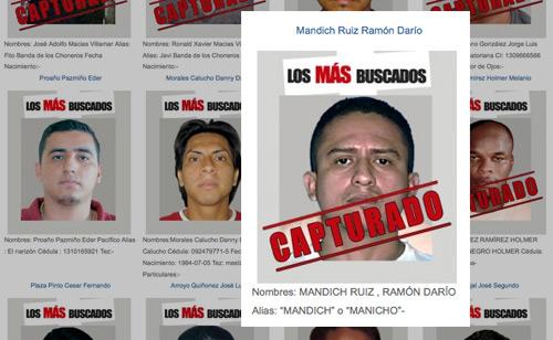 Mas buscado detenido en colombia llegara proxima semana for Ministerio del interior ecuador