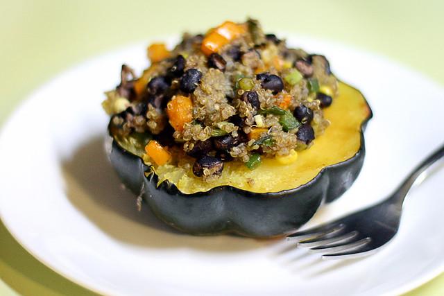 Southwestern Quinoa-stuffed Acorn Squash | Flickr - Photo Sharing!