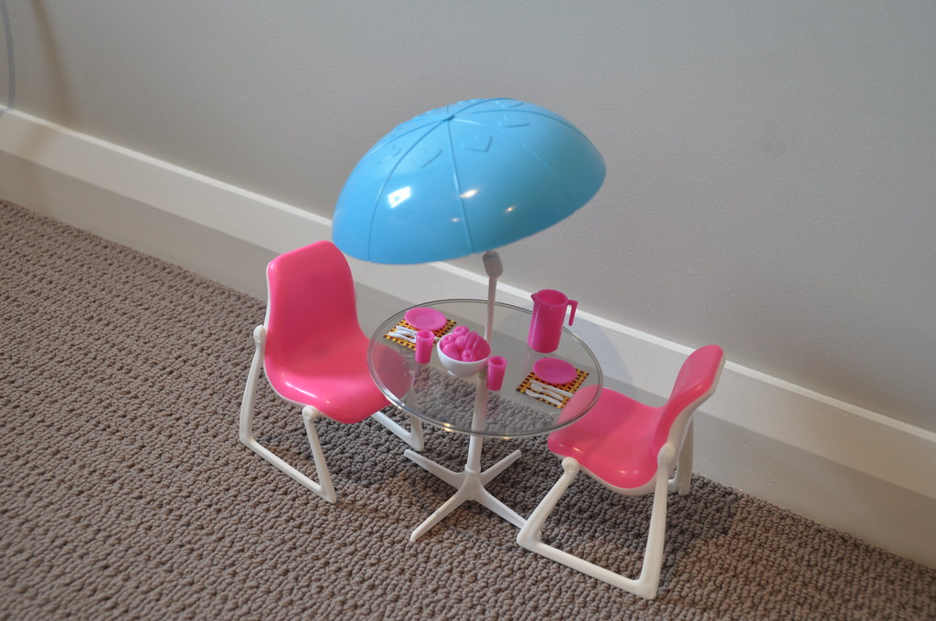 Vintage Barbie Dream Furniture Patio Table And Chairs Play