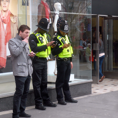 Texting Coppers | by The Image Den
