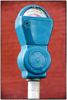Parking Meter - Blue & Gray | by Walker Evans is my Hero