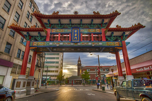 Seattle Chinatown Gate at Sunset - HDR | by David Gn Photography