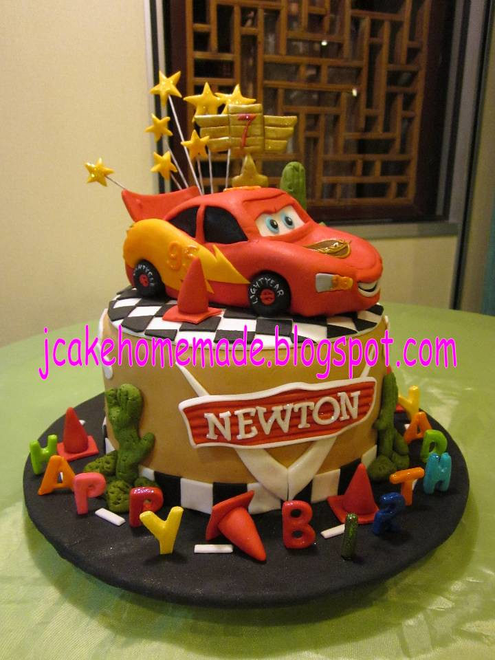 Lightning McQueen birthday cake Happy 7th birthday Newton Flickr