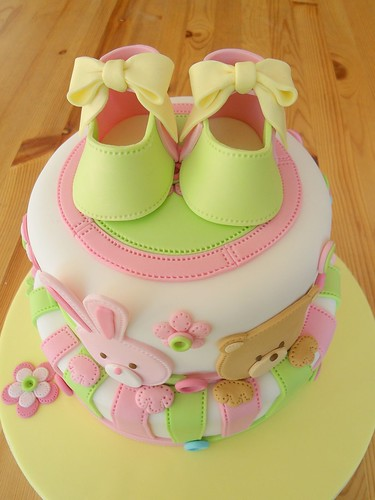 Baby Shoes cake | by deborah hwang