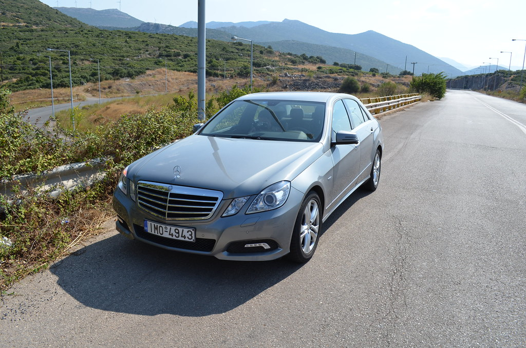 Our rental car in Greece