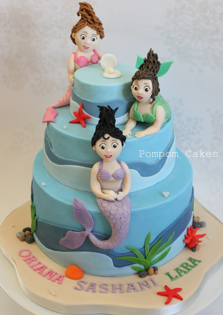 Layered Mermaid Cakes