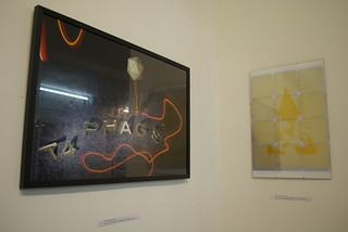 On the left 'Viruses' by Richard Jordan, and on the right 'A clockwork Agar' by John Tucker | by MadLabUK