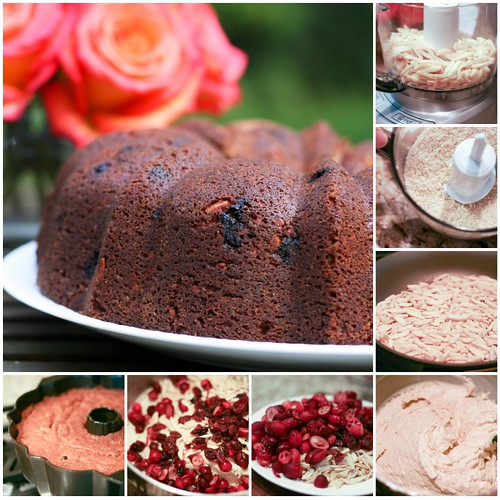 Spiced Cranberry Bundt collage | by Food Librarian