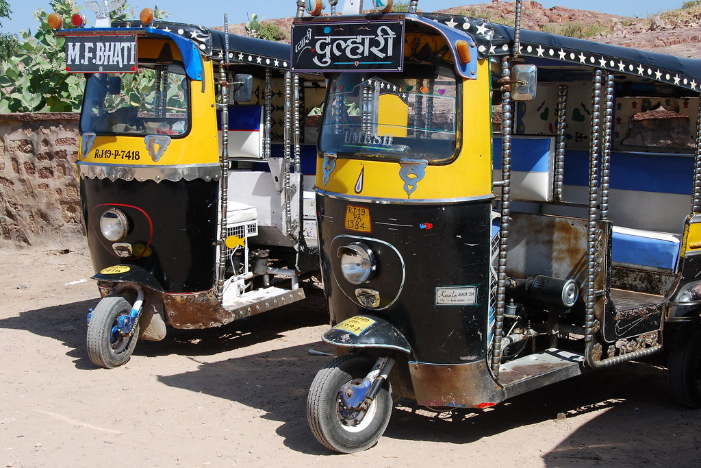 tuk tuks in jodhpur india an auto rickshaw or three whee flickr. Black Bedroom Furniture Sets. Home Design Ideas
