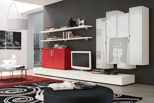 Soggiorno bianco e rosso soggiorno moderno bianco e for Arredissima ingrosso arredamenti