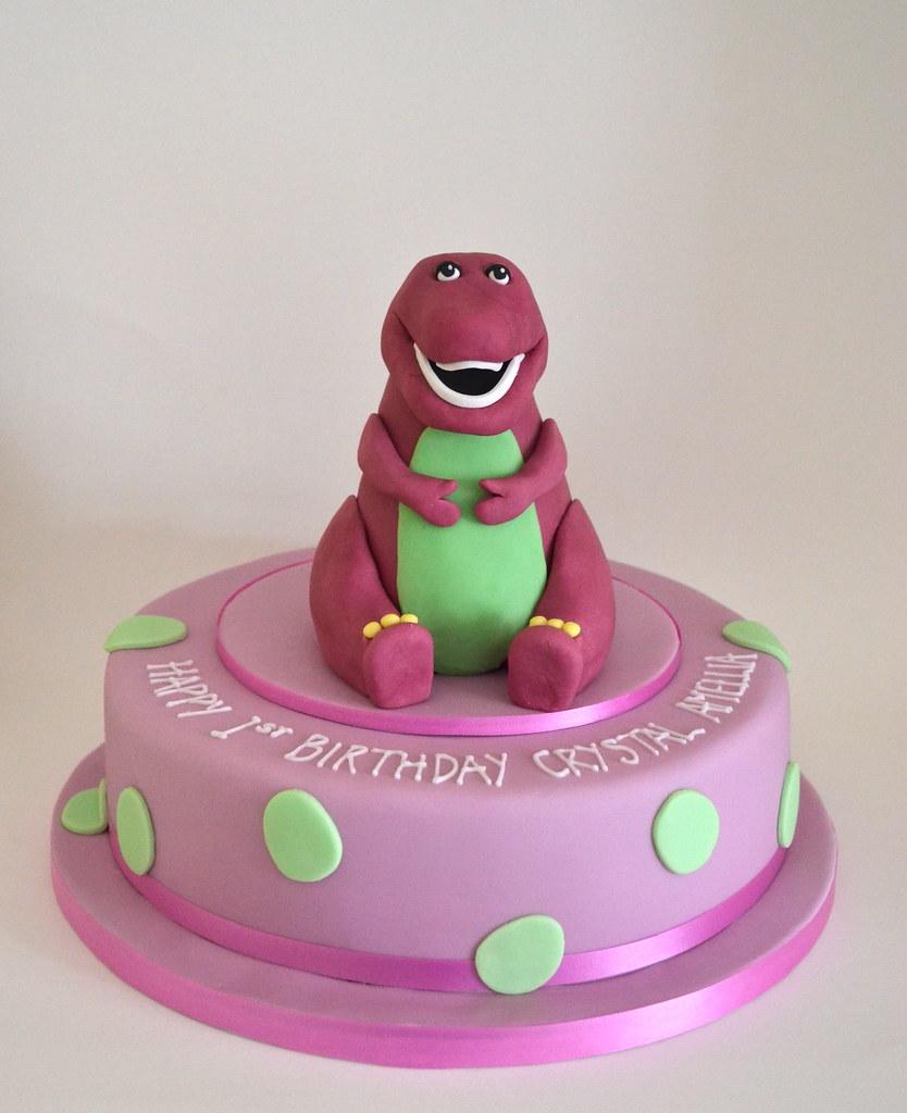 Barney Dinosaur Birthday Cake A Hand Modelled Fondant