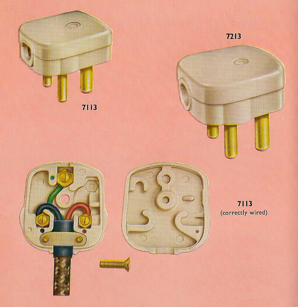 Correctly wiring your Crabtree Three-pin plug in 1962 | Flickr