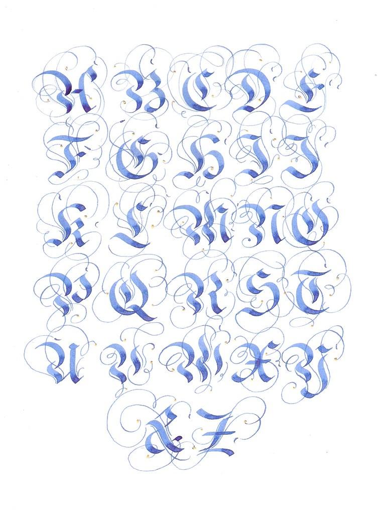 Fraktur Alphabet Flourishing