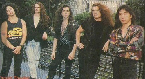 Promotional photo from Dream Theater's Images and Words era; circa 1992. (Source: sknowbird of The Mooreatorium Forum) | by The Mooreatorium