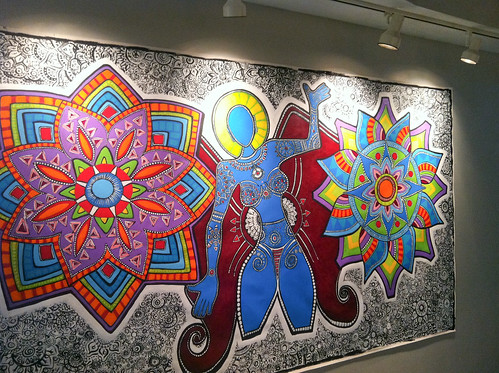 "02/29 The Mural is installed on the featured artist wall at The Banana Factory | by Stephanie ""Biffybeans"" Smith"