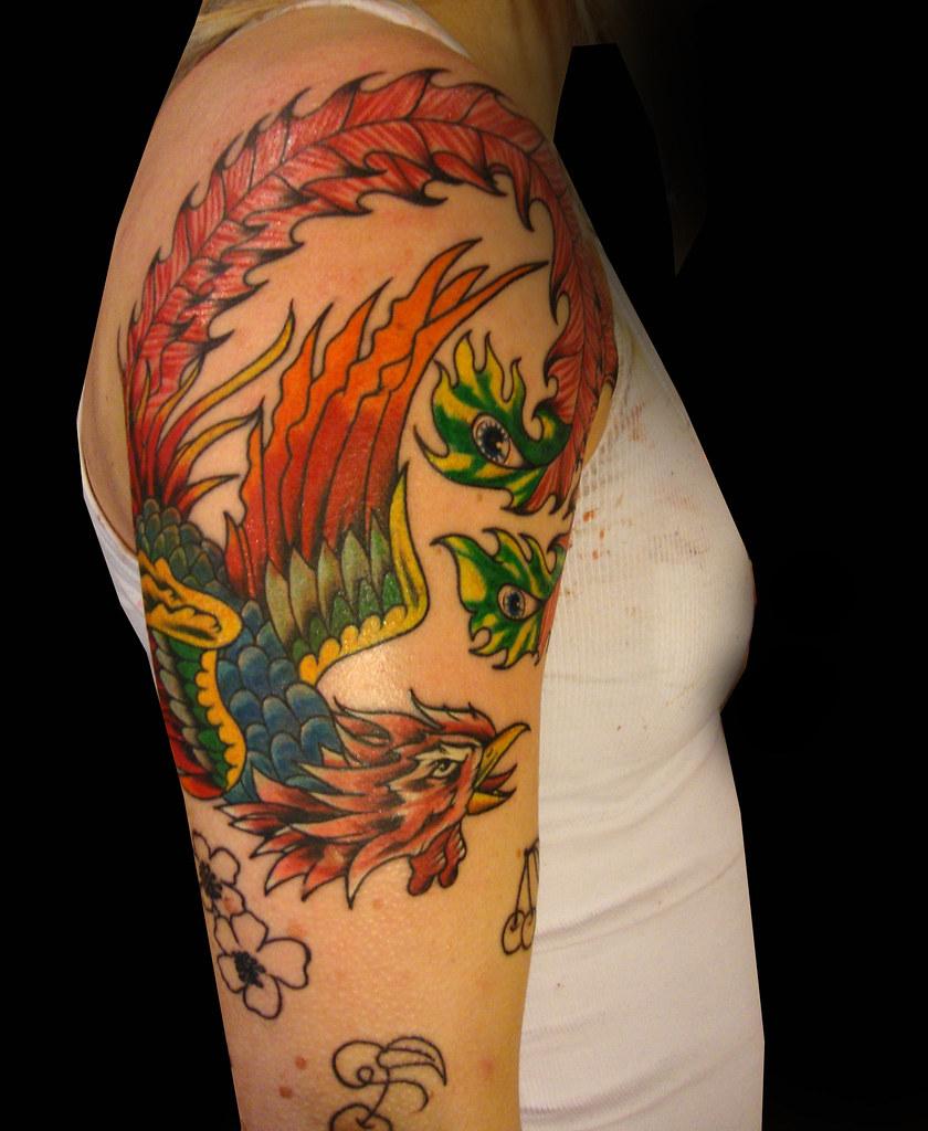 Tatuaje Ave Fenix A Color Vallekas Tattoo Zone Madrid Spain Flickr