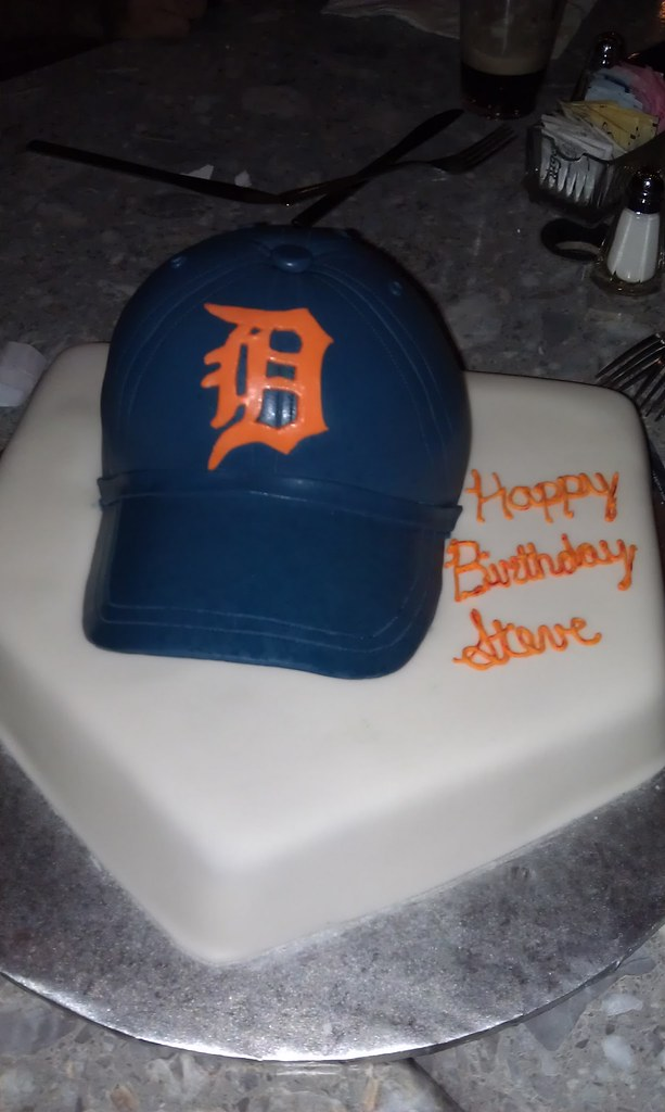 Detroit Tigers Hat Birthday Cake By Stephanie Burns