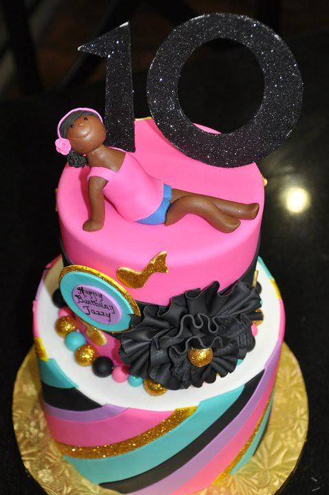 Girly Birthday Cake Images : Glittery, fun and girly birthday cake. www.thecakemamas ...