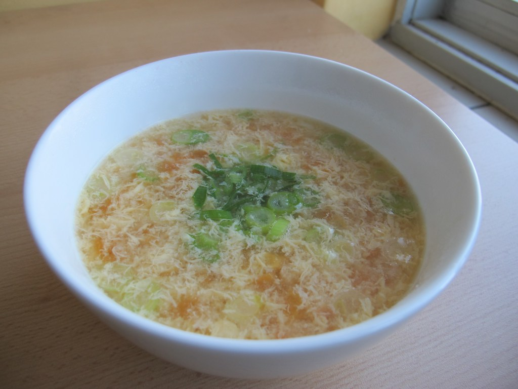 Tomato Egg Drop Soup attempt #1 | René | Flickr