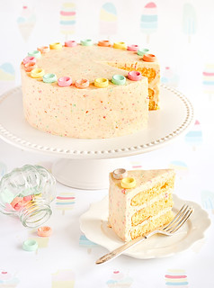 Orange Cake with Fruit Tingles (Fizzy Sherbet Candy) Icing | by raspberri cupcakes