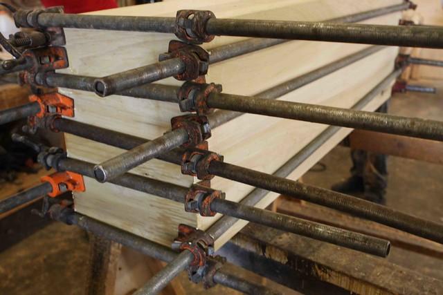 wood clamps custom handmade furniture