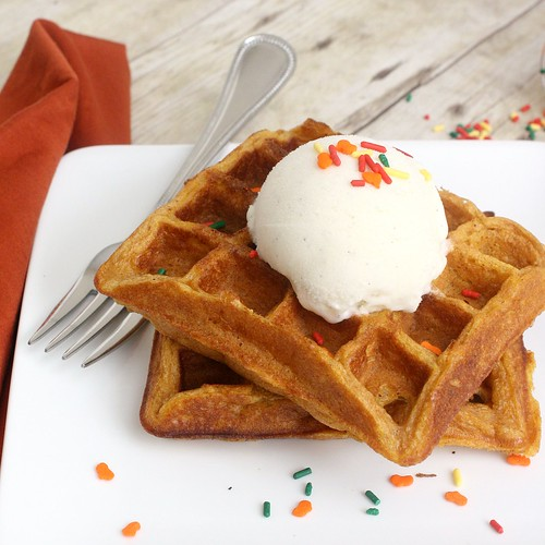 Pumpkin Pie Waffles | by Tracey's Culinary Adventures