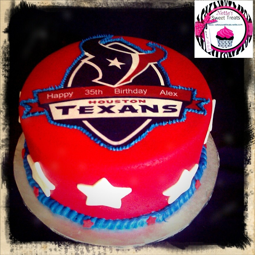 Houston Texans Cake All Fondant Cake With Edible Image Wit Flickr