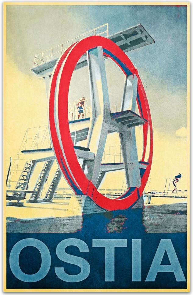 Lido di ostia the diving board structure is a real for Di tommaso arredamenti ostia