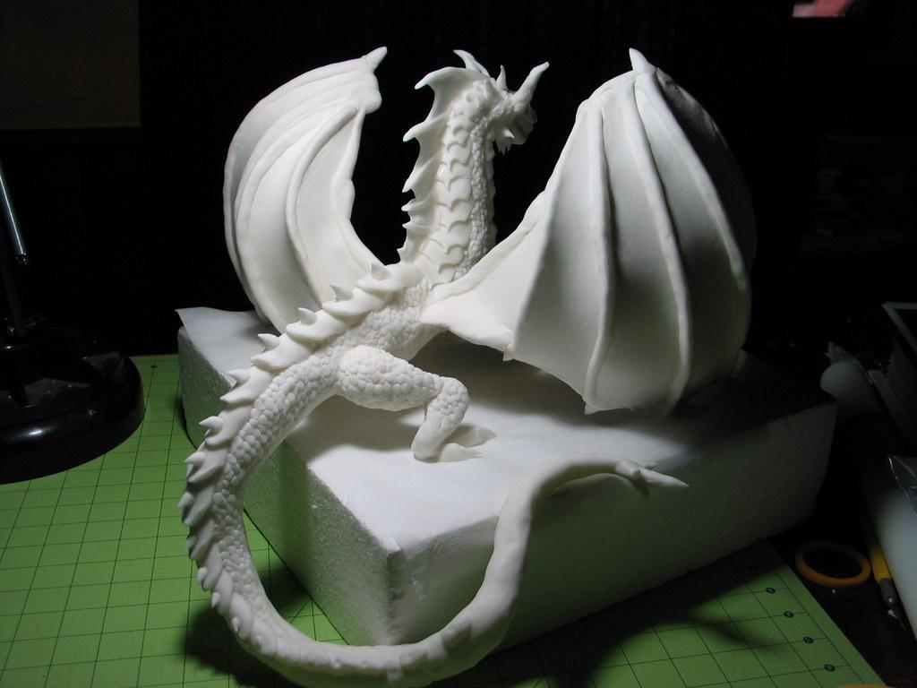 Fondant Dragon Sculpture Adding Details Rick Flickr